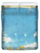 Floral In Blue Sky And Cloud Duvet Cover by Setsiri Silapasuwanchai
