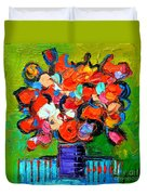 Floral Miniature - Abstract 0315 Duvet Cover