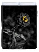 Floral October Zinnia End Of Season Sc 02 Vertical Duvet Cover