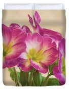Floral Oil Painting Duvet Cover