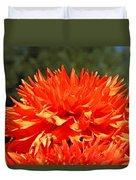 Floral Orange Dahlia Flowers Art Prints Duvet Cover