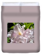 Floral Rhdodendron Flower Art Print Pink Sunlit Rhodies Baslee Duvet Cover