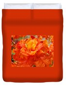 Floral Rhodies Art Prints Orange Rhododendrons Canvas Art Baslee Troutman Duvet Cover