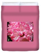 Floral Rhodies Flowers Pink White Art Baslee Troutman Duvet Cover