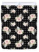 Floral Rose Cluster W Dot Bedding Home Decor Art Duvet Cover