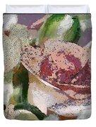 Floral Sand Duvet Cover