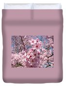 Floral Spring Art Pink Blossoms Canvas Baslee Troutman Duvet Cover