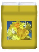 Floral Spring Garden Art Prints Yellow Daffodils Flowers Baslee Troutman Duvet Cover