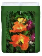 Floral Spring Tulips 2017 Pa 02 Vertical Duvet Cover