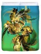 Floral Still Life Fantasy Duvet Cover