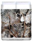 Floral Structure Duvet Cover