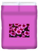 Floral Study In Red And Pink Duvet Cover