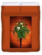 Floral Wall Arrangement Duvet Cover