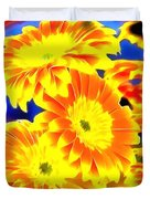 Floral Yellow Painting Lit Duvet Cover