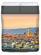 Florence At Sunrise - Tuscany - Italy Duvet Cover