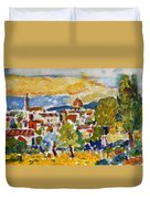 Florence From A Hill Duvet Cover