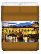 Florence - Ponte Vecchio Sunset From The Oltrarno Duvet Cover