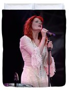Florence Welch Singer Of Florence And The Machine Performing Live - 002 Duvet Cover