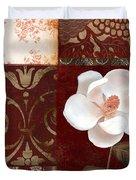 Flores Blancas Square I Duvet Cover
