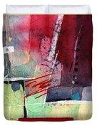 Florid Dream - Red Duvet Cover