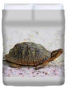 Florida Box Turtle Duvet Cover