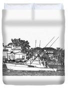 Florida Coastal Living Work D Duvet Cover