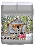Florida Cracker Church And School House Duvet Cover