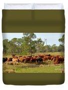 Florida Cracker Cows #1 Duvet Cover