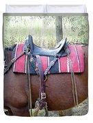 Florida Cracker Saddle Duvet Cover