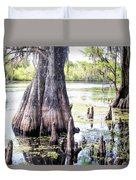 Florida Cypress, Hillsborough River, Fl Duvet Cover