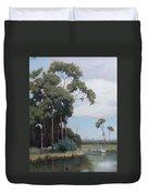 Florida Cypress With Birds Duvet Cover