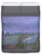 Florida Everglades Thunderstorm Duvet Cover