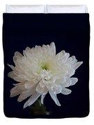 Florida Flowers - White Gerbera Ready For Full Bloom Duvet Cover