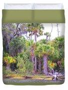 Florida Greens Duvet Cover