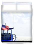 Florida Keys Patriot Duvet Cover