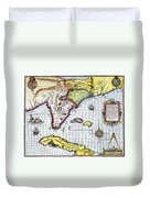 Florida: Map, 1591 Duvet Cover