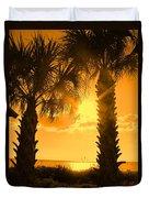 Florida Orange Duvet Cover