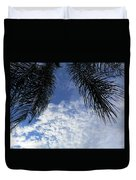 Florida Palm Fronds Blowing In The Breeze Duvet Cover