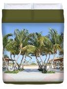 Florida Palms At Beach Duvet Cover