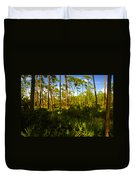 Florida Pine Forest Duvet Cover