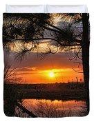 Florida Pine Sunset Duvet Cover