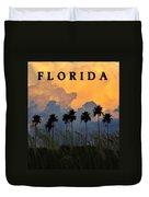 Florida Poster Duvet Cover