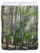 Florida Riverbank  Duvet Cover