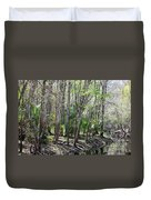 Florida Riverbank  Duvet Cover
