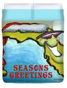Florida Seasons Greetings Duvet Cover