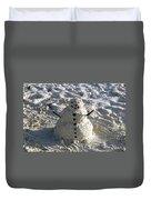 Florida Snowman Duvet Cover
