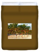 Florida Style Volleyball Duvet Cover