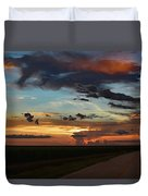 Florida Sunset Winding Road 2 Duvet Cover
