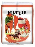 Florida, Vintage Travel Poster Duvet Cover