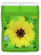 Florida - Yellow - Wildflower Duvet Cover